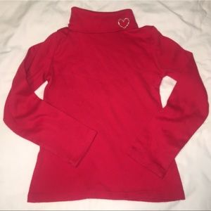 Basic Editions Red Long Sleeve Turtleneck